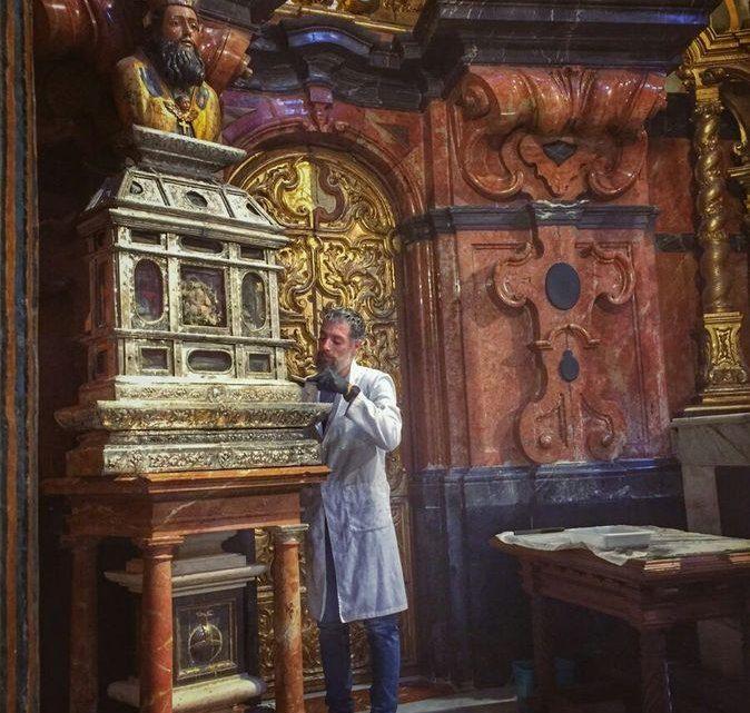 Trabajos de conservación en la Iglesia Divino Salvador de Marmolejo